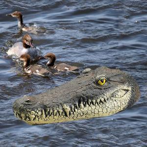 2,4 г плавающая голова крокодила RC лодка голова крокодила пародия игрушка Поддельный Крокодил приманка для бассейна пруд сад