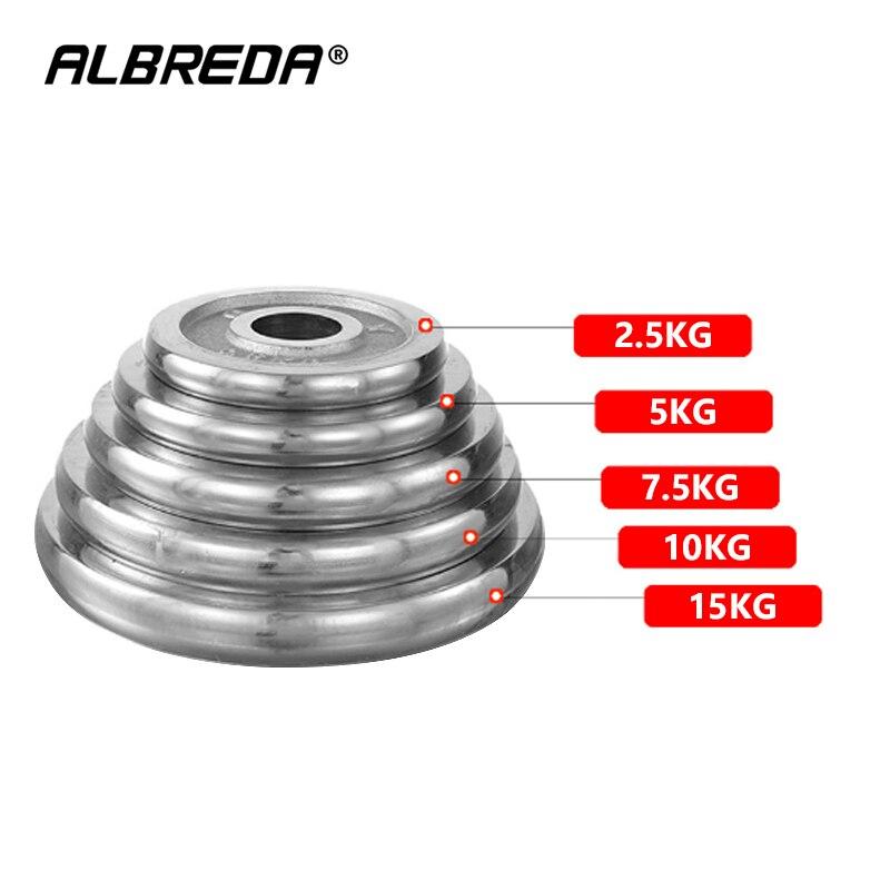 ALBREDA 2.5KG-15KG Dumbbells Disk Weights For Fitness Weightlifting Equipment Barbell Gym Muscle Strength ExerciseBarbell
