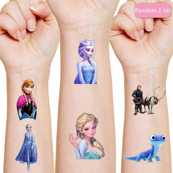 Disney Anna Aisha Originales Tattoo Sticker Random 1PCS Action Figure frozen Princess Cartoon Kids Girls Christmas Birthday Gift
