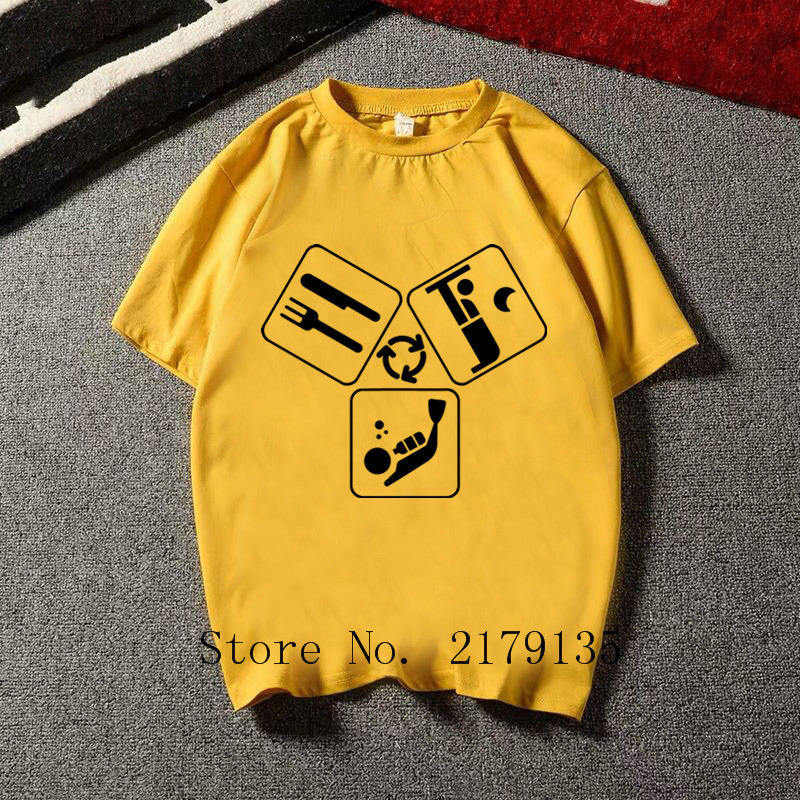 2019 Eat Sleep Dive Diver Repeat Tshirt Funny Anime Design Cotton Camiseta t shirt Homme Diving Scuba Reef Gift Humor tshirt Men(China)