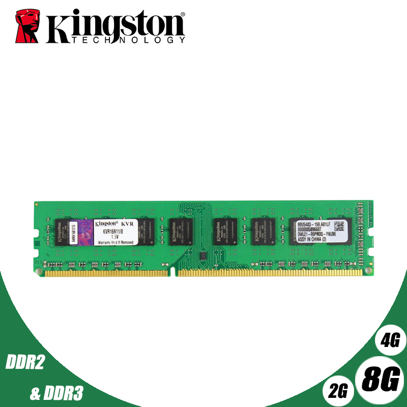 Kingston PC Memory RAM Memoria Module Computer Desktop 1GB 2GB PC2 DDR2 4GB <font><b>DDR3</b></font> 8GB 667MHZ 800MHZ 1333MHZ 1600MHZ 8GB 1600 image
