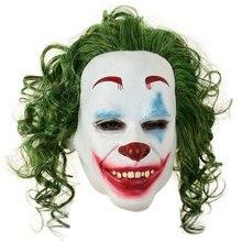 Arthur Fleck T Full Face Non-toxic Latex Mask Horror Joker Clown Halloween Party Cosplay Costume Drama Performance Props