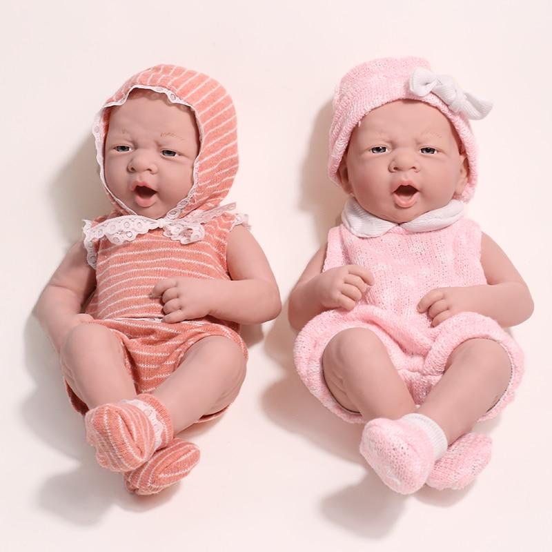 Bonecas com expressão de silicone 35cm, bebês reborn, brinquedos realistas de silicone, sem função, brinquedos para meninas e crianças bonecas de presente