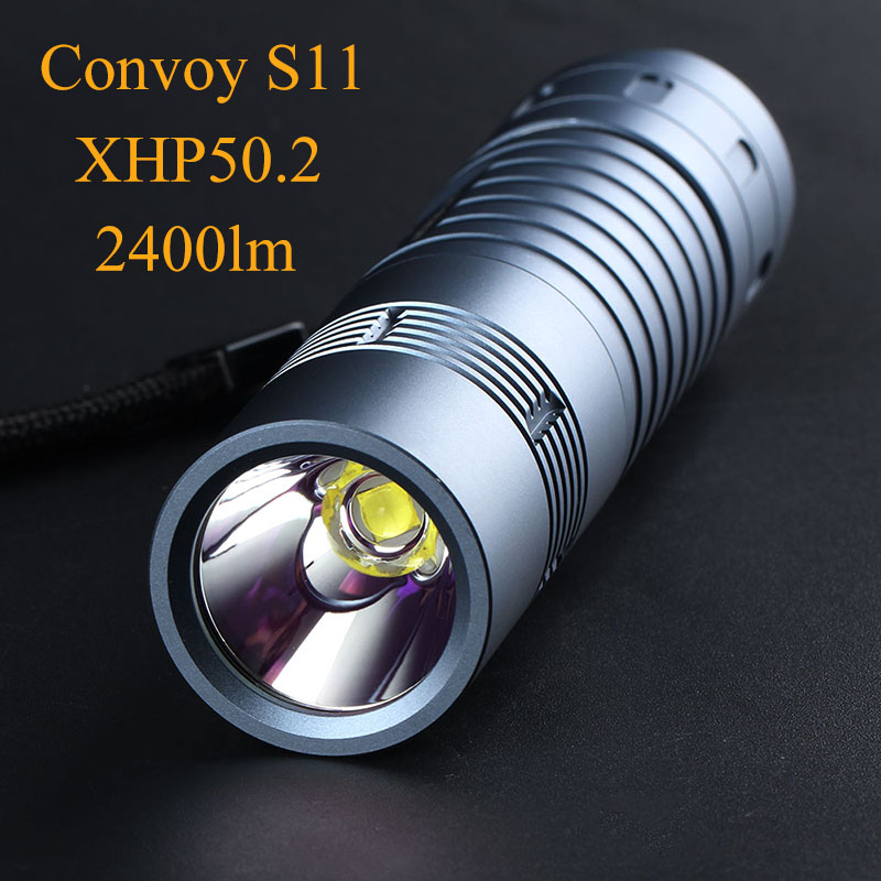Super Powerful LED Flashlight Convoy S11 EDC Flash Light XHP50.2 2400lm Tactical Torch 18650 26650 Portable Linterna LED Lantern