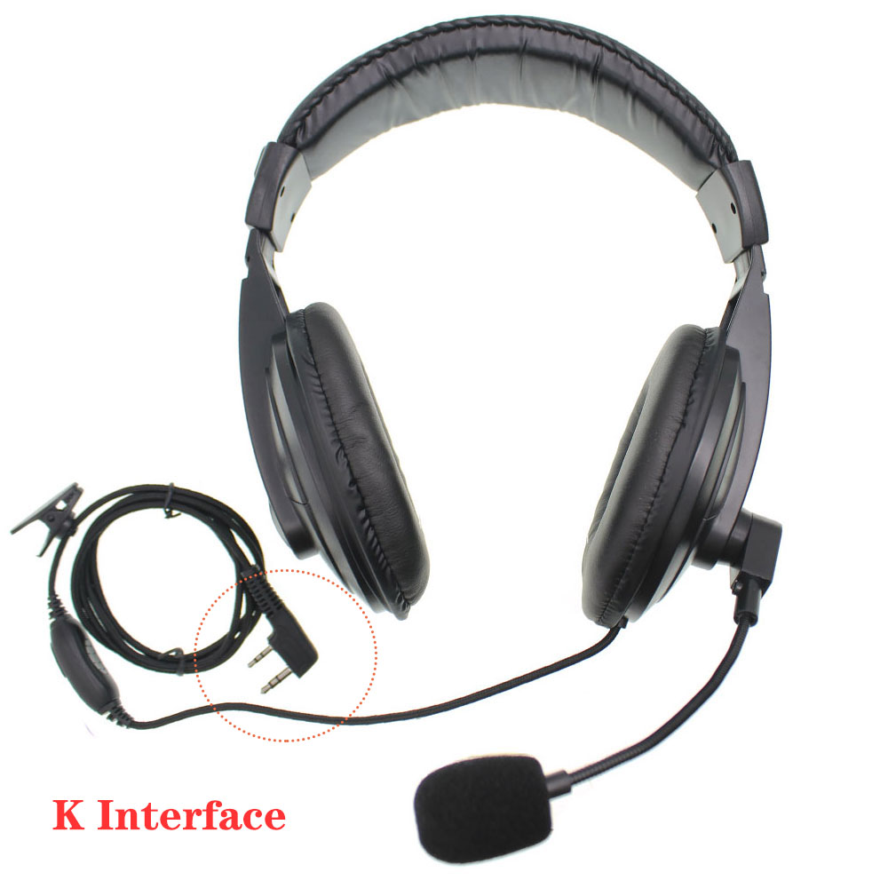 Noise Cancell Handsfree Over Ear  Headphones  Vox Headset And PTT Baofeng Radio UV-5R UV-82 Two Way Radio
