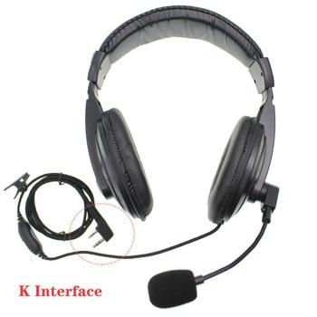 цена на Noise cancell Handsfree Over Ear  Headphones  Vox Headset and PTT Baofeng Radio UV-5R UV-82 Two Way Radio