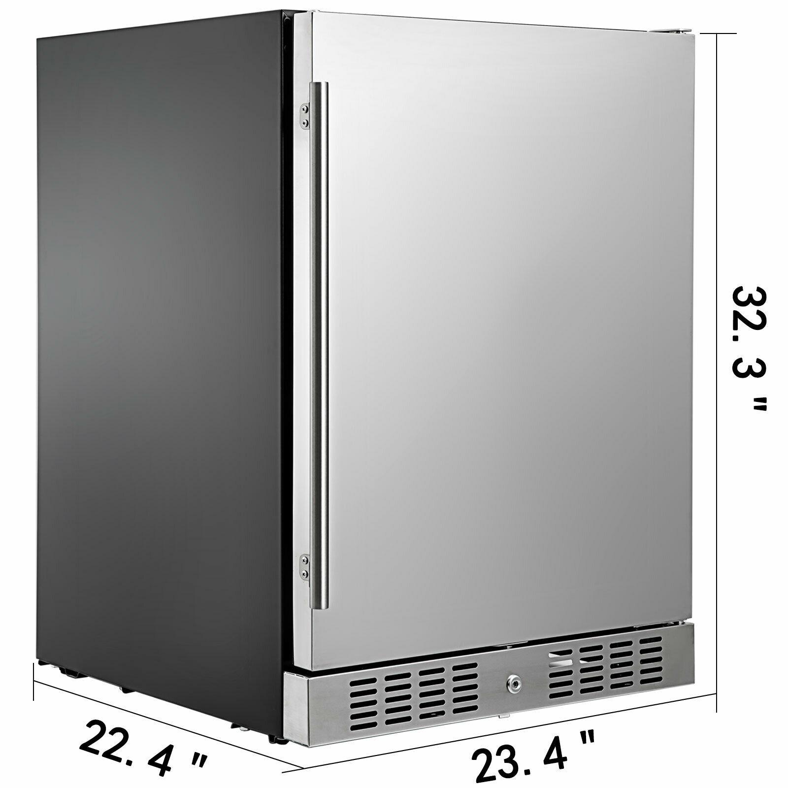 VEVOR небольшой холодильник сода и пива реверсивная дверь Нержавеющаясталь мини-холодильник с морозильной камерой для Офис коммерческого применения внутри помещений Применение 6