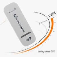 Adaptador de tarjeta de red inalámbrica USB 4G LTE de 150Mbps Router de módem WiFi blanco Universal para ordenador portátil y dispositivos MID