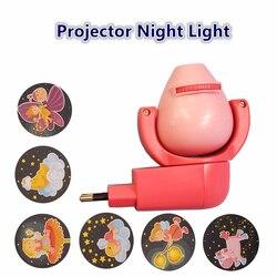 Star Moon Animal Projector LED Projector 6 Images Sensor EU Plug Night Light Lamp For Kids Children Baby Bedroom Decoration