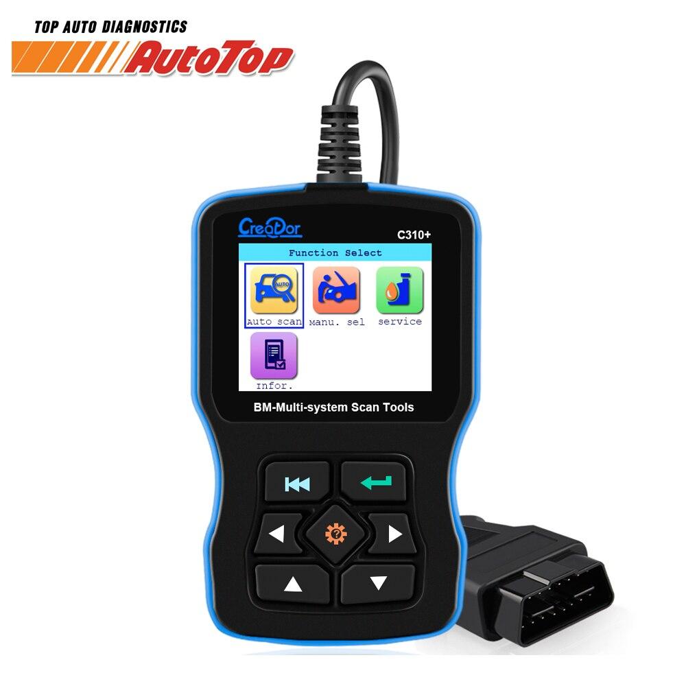 OBD2 сканер для BMW подушки безопасности/ABS/ SRS e46 e90 e60 e39 все системы диагностический инструмент Создатель C310 + Pro обслуживание масла сброс кода читателя
