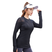 New Sport Shirt Women Long Sleeve T-shirt Fitness Yoga Tops Shirts Sports Wear for Clothing