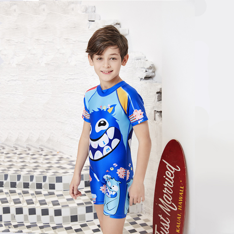 2019 New Style CHILDREN'S Swimsuit One-piece Cartoon Hot Springs Quick-Dry Sun-resistant KID'S Swimwear GIRL'S And BOY'S Baby Sw