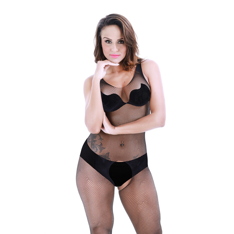 Open Crotch Pantyhose Sexy Lingerie Erotic Transparent Women's Sexy Nylon Plus Size Bodystockings Fishnet Stockings
