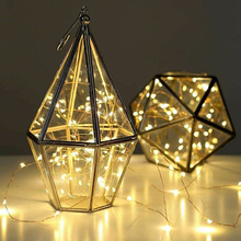 Multicolor Remote Control Copper Wire String Light Waterproof Decorative Wire Lamp Starry Festival LED String Home Accessories