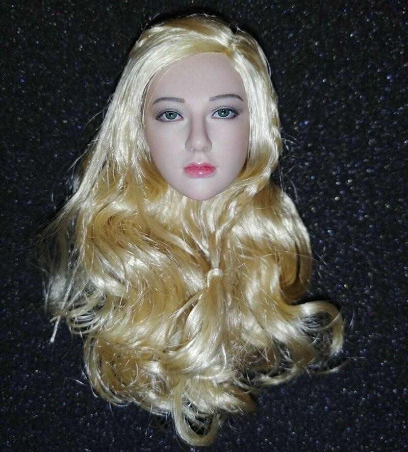"1//6 Black Hair Girl Carving Head Sculpt F 12/"" Phicen OB Seamless Figure Body"