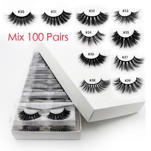 Mink-Lashes Makeup Natural In-Bulk Wholesale 3d 50/100pcs