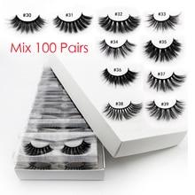 Wholesale Eyelashes 20/40/50/100pcs 3d Mink Lashes Natural Mink Eyelashes Wholesale False Eyelash Makeup Thick Fake Lash In Bulk