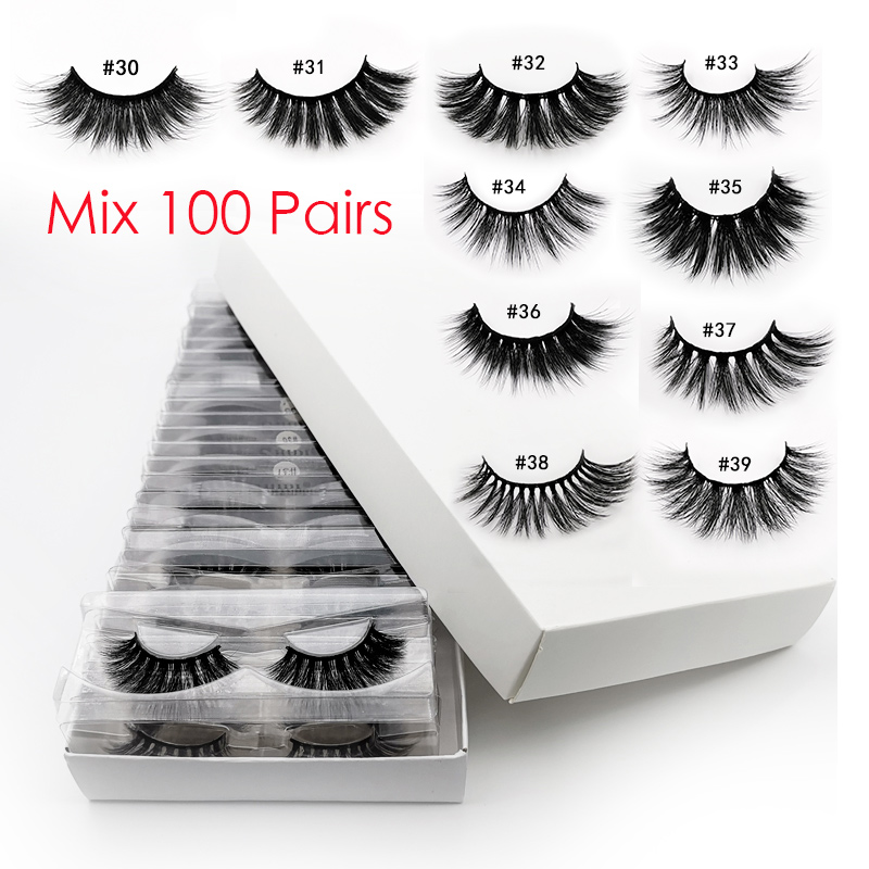 Wholesale Eyelashes 20/40/50/100pcs 3d Mink Lashes Natural Mink Eyelashes Wholesale False Eyelashes Makeup False Lashes In Bulk