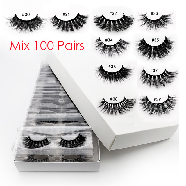 Wholesale Eyelashes 20/40/50/100pcs 3d Mink Lashes Natural Mink Eyelashes Wholesale False Eyelashes Makeup False Lashes In Bulk
