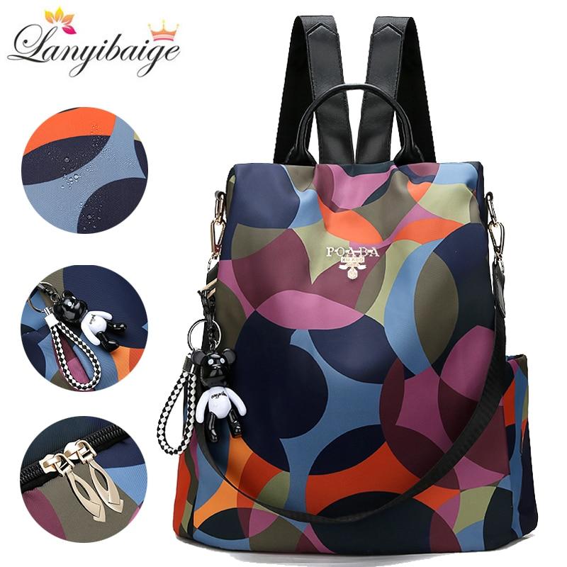 Fashion Backpack Women Oxford Cloth Shoulder Bag School Bags For Teenage Girls Light Ladies Travel Backpack Mochila Feminina