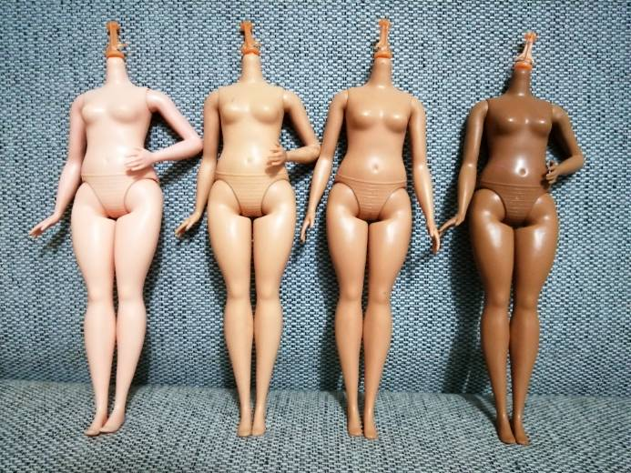 Fat  DIY Body Without Head 1pc DIY Nude Naked Doll Body For Draculaura Girl Doll House Children Gifts