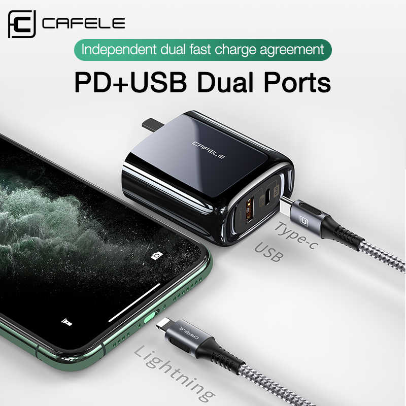 CAFELE 33W QC 4,0 3,0 PD SCP Schnell Ladegerät UNS USB Ladegerät Typ C Schnelle Ladegerät USB PD Ladegerät für iPhone Xiaomi Huawei Samsung