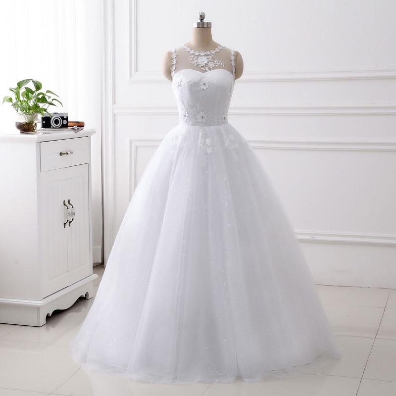 Women's Round Neck Luxury Lace Applique Mermaid Wedding Dresses Elegance Wedding Gown