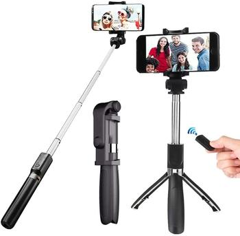 Universal 3 in 1 Wireless Bluetooth Selfie Stick Extendable Monopod Foldable Tripod With Remote Phone holder For Ios Android