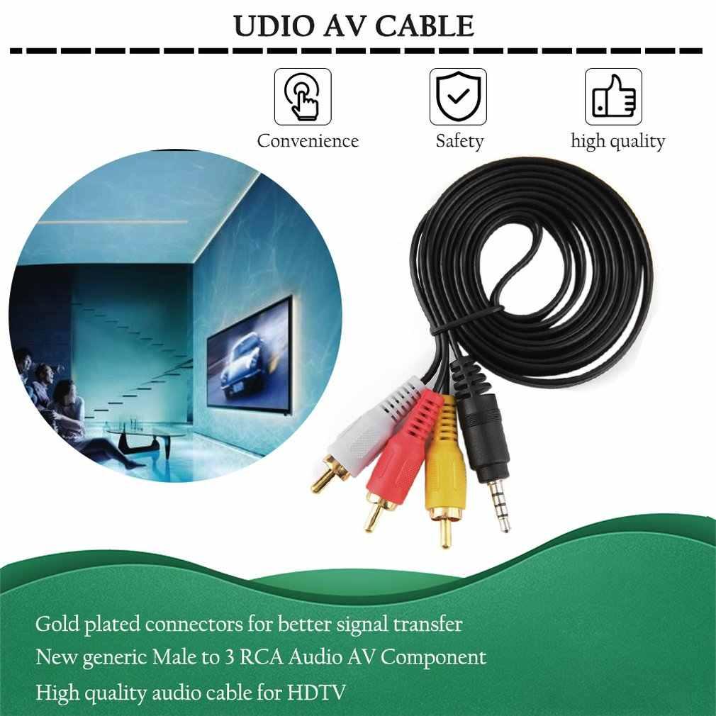 1.5 メートル 1080 1080P の HDTV オス 3 RCA オーディオビデオ AV ケーブルコードアダプタ