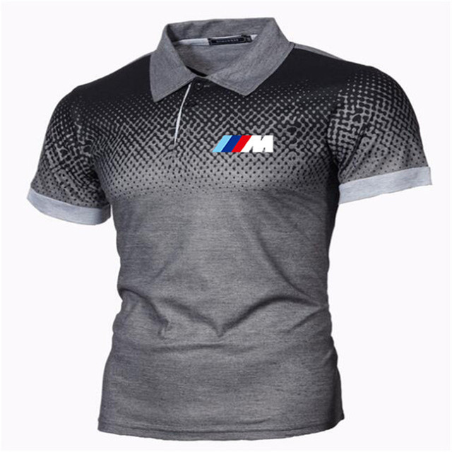 New Summer Men Brand Clothing printing BMW M Men Business fashion Casual Male Polo Shirt Short Sleeve Breathable Soft Polo Shirt 1