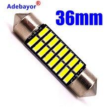 1 sztuk Festoon 36mm żarówki do lampki we wnętrzu samochodu hurtownie C5W Led 4014 16 SMD 16 Leds oświetlenie wnętrza czytanie światła Mix rozmiar