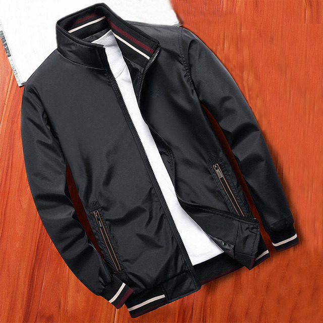 MANTLCONX New Spring Men Jacket Coats Casual Solid Color Jackets Stand Collar Men Business Jacket Brand Clothing Male Outwear 1