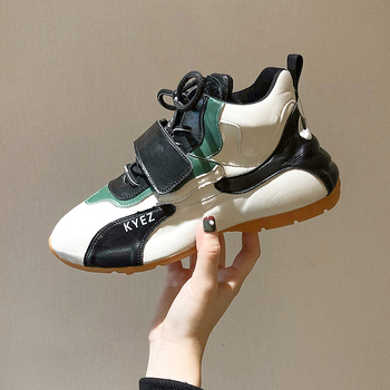 Women Platform Chunky Sneakers Leather Sneakers lace-up Casual Vulcanize Shoes luxury Designer Old Dad female fashion Sneakers fashion women men laser bling dad running sneakers female casual shoes male flat platform women sneakers round toe feminino