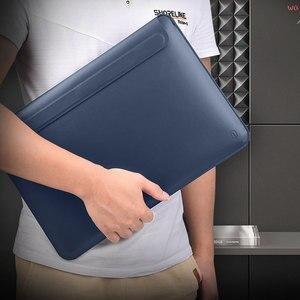 Image 3 - WIWU Neueste Laptop Sleeve für MacBook Air 13 Fall Wasserdichte Laptop Tasche Fall für MacBook Pro 13 15 PU Leder notebook Tasche Fall