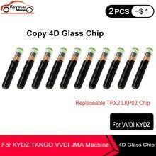KEYECU 10 TEILE/LOS Kopie 4D Glas Chip Austauschbare TPX2 LKP02 Chip Auto Schlüssel Chip Kann Unterstützung KYDZ TANGO VVDI JMA maschine (Wiederverwendbare)