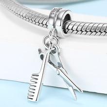 Scissors Bead Charm Pandora Bracelet 925-Sterling-Silver Jewelry Fashion for Women Fit
