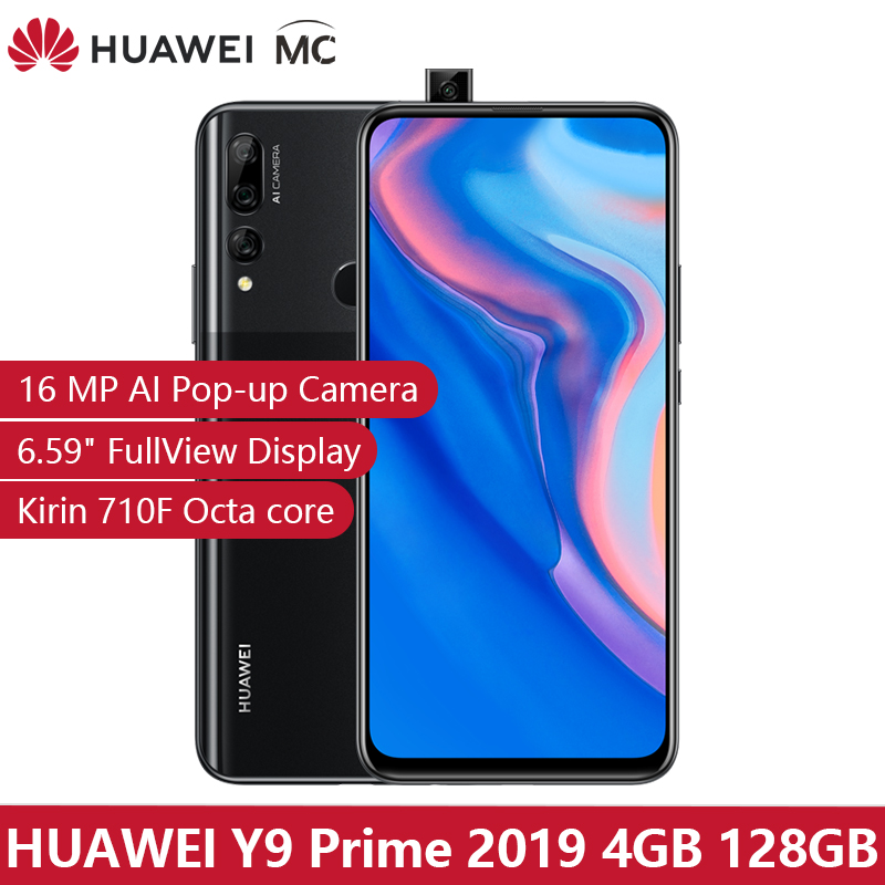 "In Stock Global Version Huawei Y9 Prime 2019 Smartphone AI Triple Rear Cameras 4GB 128GB Auto PopUp Front Camera 6.59"" Cellphone"