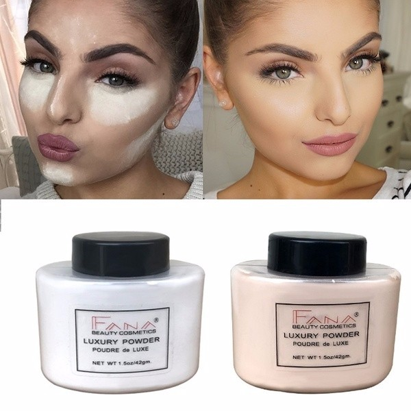 1 Pcs Banana Loose Powder Smooth Oil Control Powder Translucent Setting Powder Face Makeup Finish Setting Powder Cosmetics TSLM1