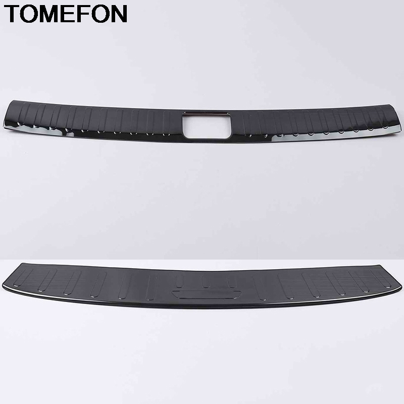 TOMEFON For <font><b>Hyundai</b></font> Tucson 2016 2017 2018 <font><b>2019</b></font> Rear Trunk Bumper Tail Door Protect Pedel Cover Trim Accessories Stainless Steel image