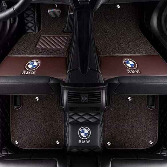 Car floor mats with Logo/Brand Logo made for Kia K7 Cadenza full cover waterproof foot case car-styling carpet rugs perfect line