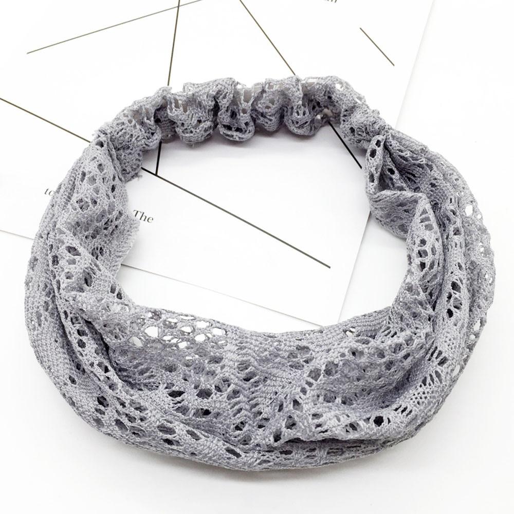 Women Black/&White Lace Flower Stretch Wide Headband Hairband Headwear