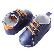 Baby Newborn Crib Shoes Splicing Soft Sole Anti-Slip Shoes Baby Sneake