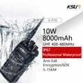 Водонепроницаемая портативная профессиональная рация KSUN X-P70 100 км IP67 мощностью 10 Вт для военных/противопожарных/промышленных раций
