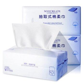 100pcs Disposable Cotton Soft Face Towel Wash Cloth Facial Tissue Clean Face Wash Towel Travel Paper Towel Makeup Cotton Pads