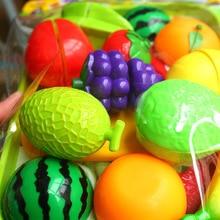 Детские фруктовые и овощные столовые приборы, набор кухонных игрушек, головоломка, Игрушки для раннего обучения, моделирование, фруктовая еда, кухонные принадлежности, игрушка, подарок для девочки