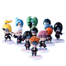 цена 11pcs/lot 5cm Anime Naruto Action Figure toys Uzumaki Naruto Uchiha Sasuke Hatake Kakashi   Pvc Model Doll Collection Kids Toys онлайн в 2017 году