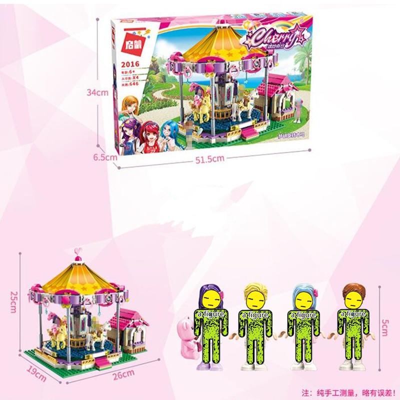 ENLIGHTEN Girls Princess Fantasy Carousel Building Blocks Sets Bricks Model Classic Compatible Friends Xmas Christmas in Blocks from Toys Hobbies