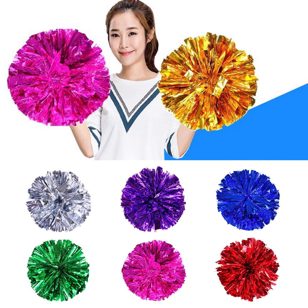 Kids Adult Cheerleader Pom Poms Dance Football Basketball  Cheerleading Cheer Pom Poms Team Sports Accessories