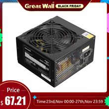 Great Wall 600W Power Supply for PC 12V 80plus Bronze Power Supply 120mm Quiet Fan ATX PSU Desktop Power Supplies for Computer