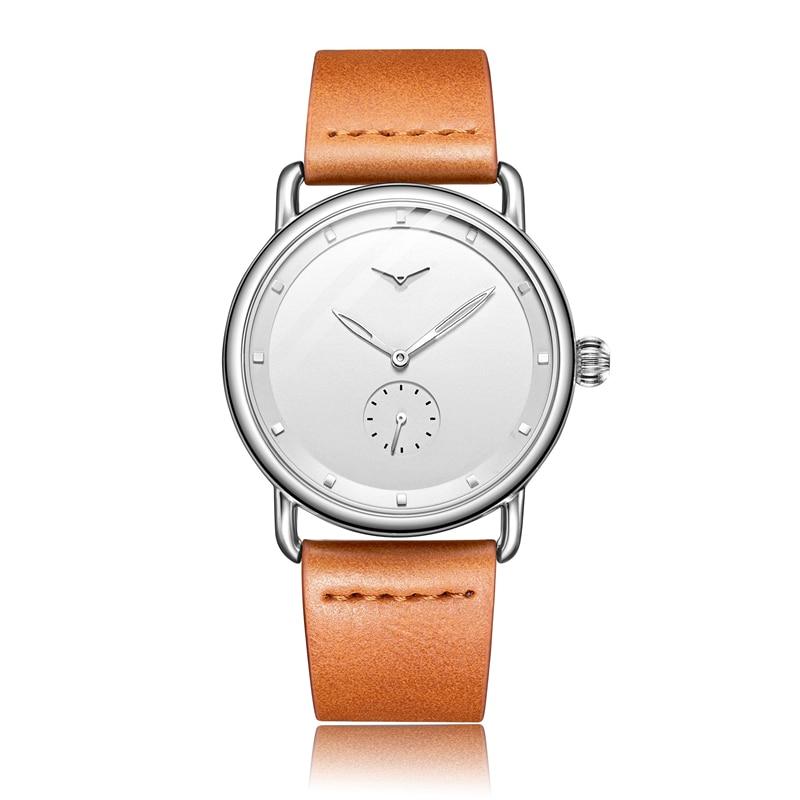 Casual watch men brand ONOLA quartz wristwatch simple waterpoor leather man watch Luxury watches 8